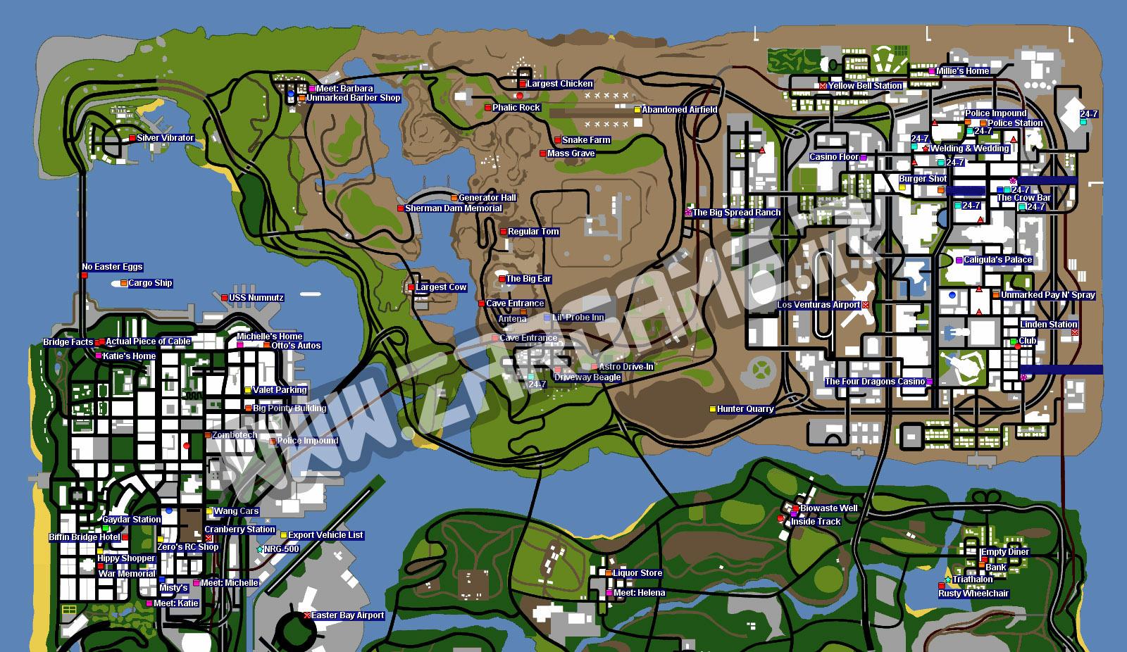تمامی مکان های مخفی در بازی (GTA 5 (San Andreas