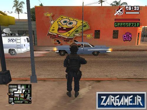 دانلود پک دیوار طرح باب اسفنجی برای (GTA5(SanAndreas