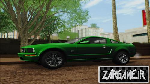 دانلود فورد موستانگ به همراه دو رینگ مختلف و 6 پینت حاب برای (GTA 5 (San Andreas