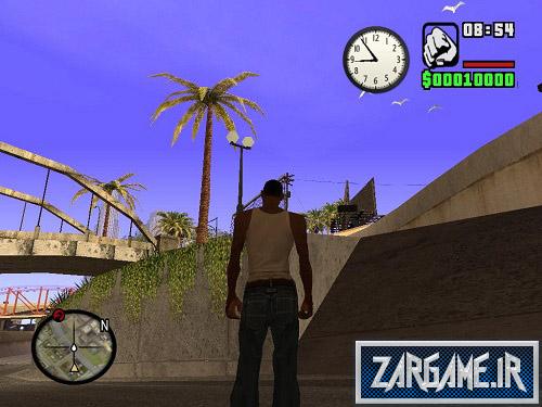 مود نمایش ساعت عقربه دار روی صفحه برای (GTA 5 (San Andreas