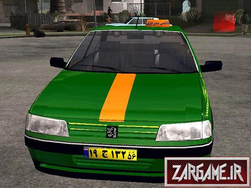 دانلود پژو 405 تاکسی سبز رنگ برای (GTA 5 (San Andreas