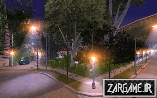 دانلود مود خانه ها،درختان و چراغ های جدید در محله CJ برای (GTA 5 (San Andreas
