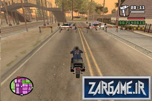 دانلود مود کلو بستن جاده توسط پلیس برای GTA SA