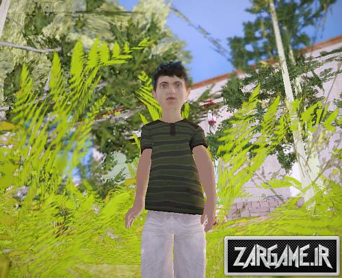 دانلود اسکین پسربچه برای (GTA 5 (San Andreas