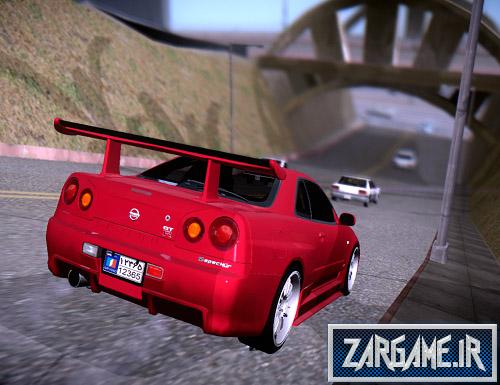 دانلود ماشین نیسان اسکای لاین R34 تیونینگ برای بازی GTA Sa