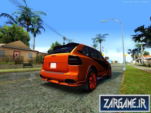 دانلود ماشین پورشه کاین تیونینگ نارنجی برای GTA San Andreas