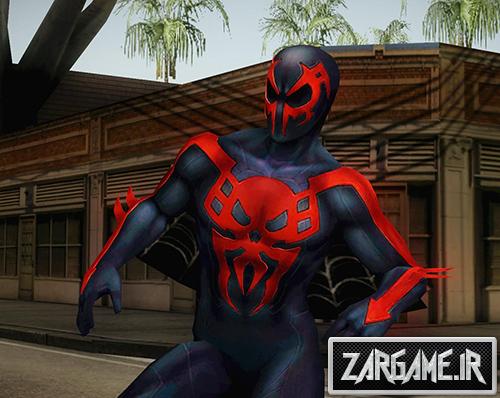 دانلود اسکین اسپایدرمن 2099 از بازی Marvel Future Fight برای GTA Sa
