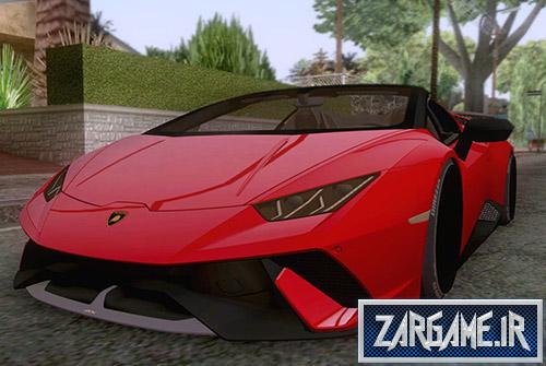 دانلود ماشین لامبورگینی هوراکان اسپایدر پرفورمنس 2019 برای بازی (GTA 5 (San Andreas