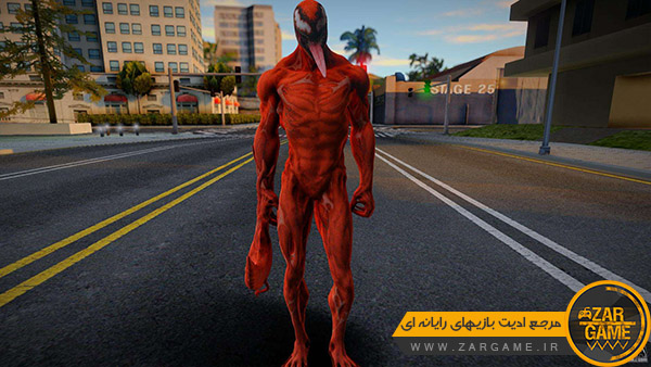 دانلود اسکین کاراکتر کارنیج | Carnage برای بازی GTA San Andreas