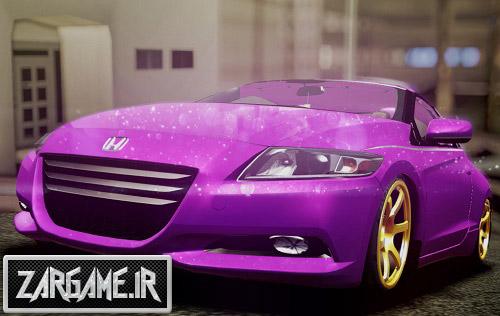 دانلود ماشین فوق العاده زیبای Honda CRZ Hybird صورتی برای GTA Sa