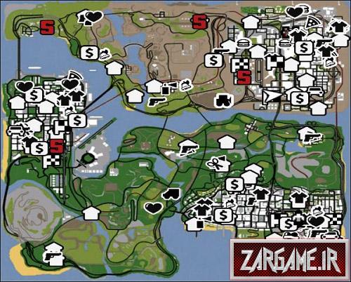 دانلود آیکون های رادار GTA V برای بازی (GTA 5 (San Andreas